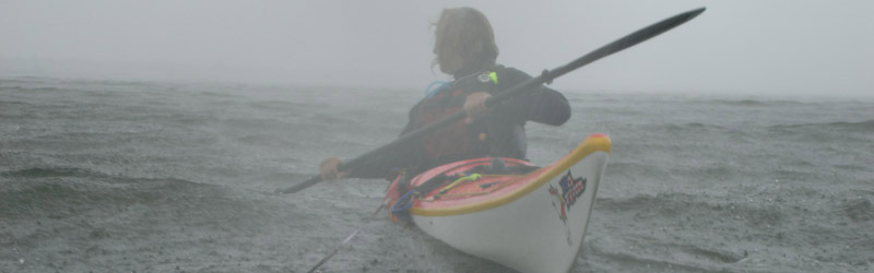 Rain and fog can impare visibility and maneuverability on the water